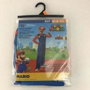 Super Mario Boy Costume Cosplay Size M (8-10)
